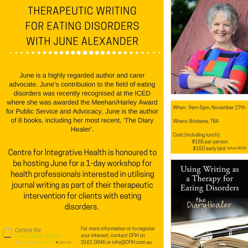 Therapeutic Writing for Eating Disorders: A Workshop for Professionals.