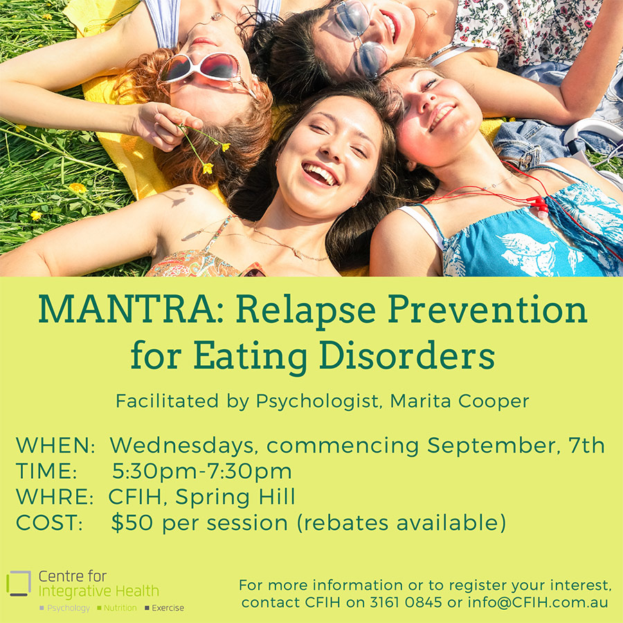 Mantra: Relapse Prevention for Eating Disorders