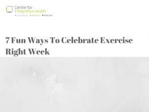 7 Fun Ways To Celebrate Exercise Right Week