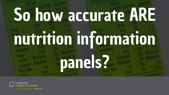 How accurate are nutrition information panels?