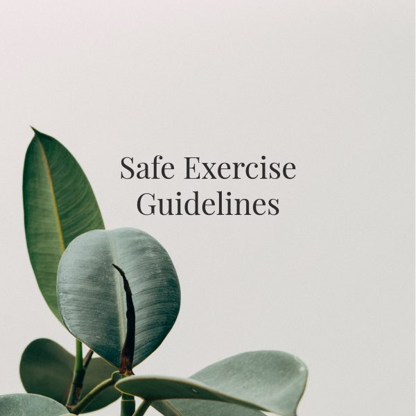 Safe Exercise Guidelines